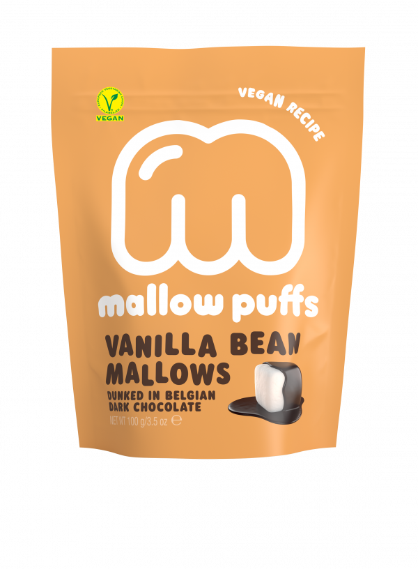 mallow puffs vegan vanilla bean mallows dunked in belgian dark chocolate